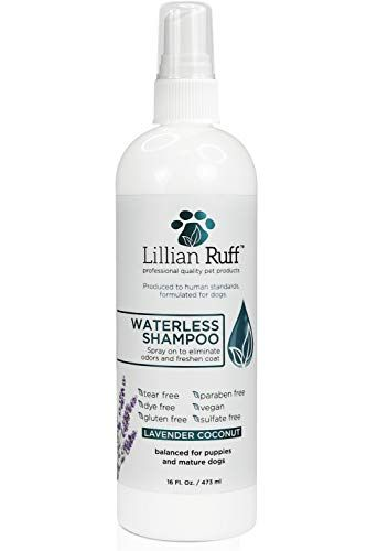 Lillian Ruff Waterless Dog Shampoo No Rinse Quick Dry Shampoo For Dogs Spray Tear Free Lavender Coconut Scent To Deodorize Pet Odor And Freshen Coat Made