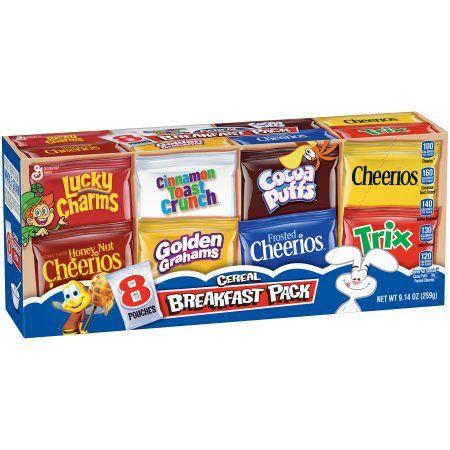 General Mills Cereal Breakfast Pack 8 Count 9 14 Oz Breakfast