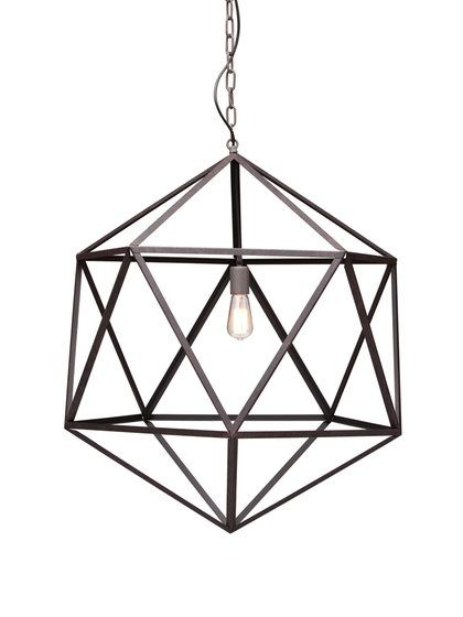 Large Amethyst Ceiling Lamp by Zuo at Gilt
