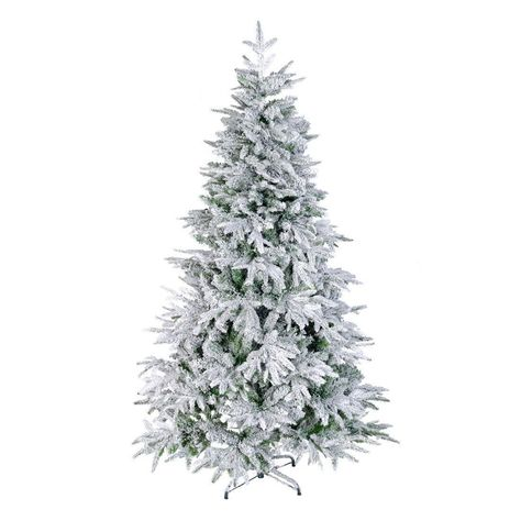7 Foot Ft Artificial Christmas Trees Flocked Snow White Tree Pe Pvc 1080 Tips Walmart Com Flocked Artificial Christmas Trees Flocked Christmas Trees Artificial Christmas Tree