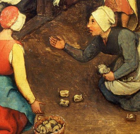PIETER BRUEGHEL the Elder - Children's Games detail Bikkels NOTE: is 16e eeuws! Maar kan wellicht toch als inspiratie dienen