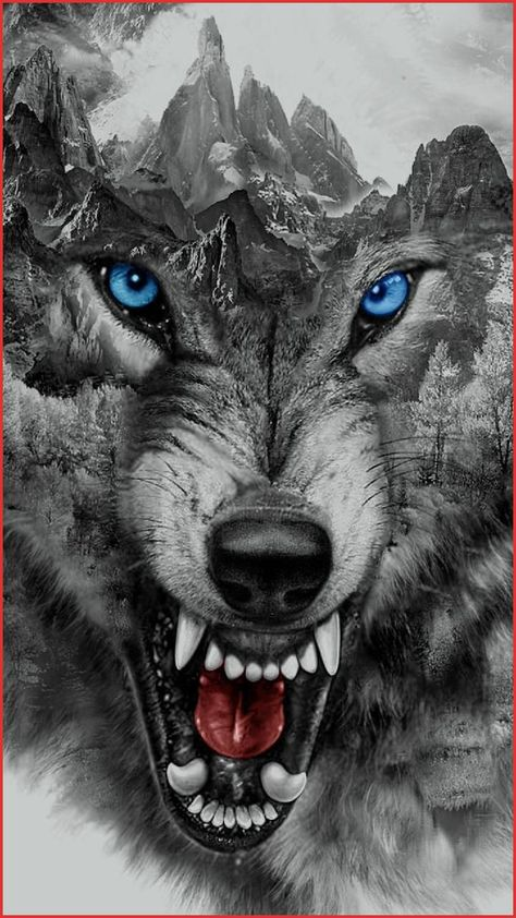 Badass Wolf Wallpaper 139772 Download Angry Wolf Wallpaper by Georgekev now Browse Millions Of