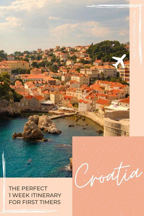 Croatia One Week Itinerary In 2020 Summer Destinations Europe Summer Travel Destinations Europe Beaches