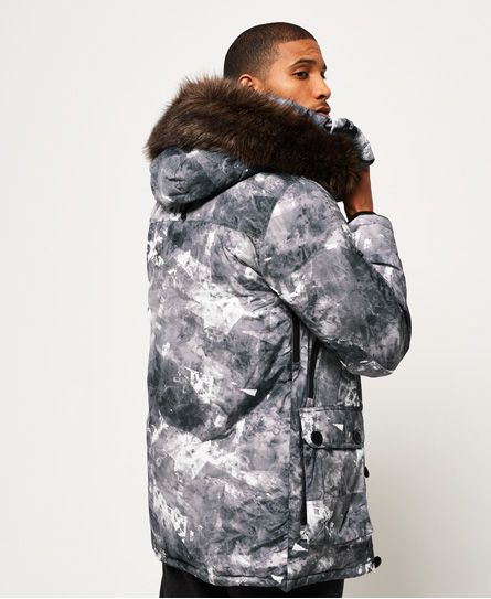 Superdry 1st AD Down Glacier Parka Jacket Grey | Gray jacket