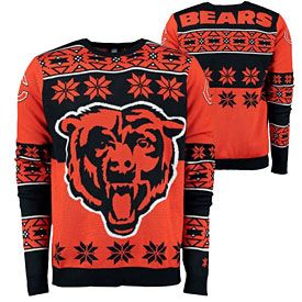 Get this Chicago Bears Big Logo Crew Neck Ugly Sweater at ...
