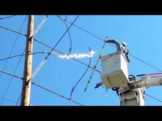 Extremely Dangerous Job Changing High Voltage Cable Isolator Youtube High Voltage Dangerous Jobs Power Lineman