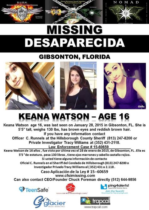 1\/7\/2015 Helena Garcia, age 14, is #missing from Saint Petersburg - missing poster generator