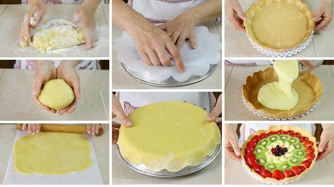 come fare la base di pasta frolla per la crostata di frutta, preparala in anticipo per guarnire la torta più velocemente, pasta frolla veloce senza burro