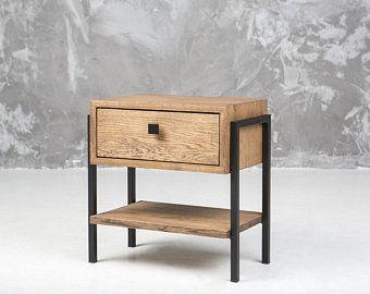 Mitte Des Jahrhunderts Eiche Nachttisch Nachttisch Etsy In 2020 Side Table Wood Oak Side Table Bedside Table Design