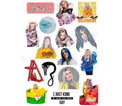 Billie Eilish Sticker Cutouts Pegatinas Imprimibles Arte De Discos De Vinilo Pegatinas De Vinilo