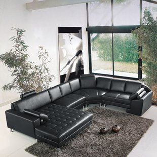 Hokku Designs Artistant Sectional Leather Sectional Sectional