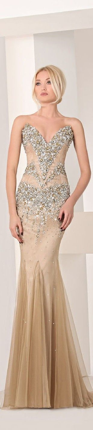 Tony Chaaya Stapless Embellished Couture Gown S/S 2013 ~ Stunning~