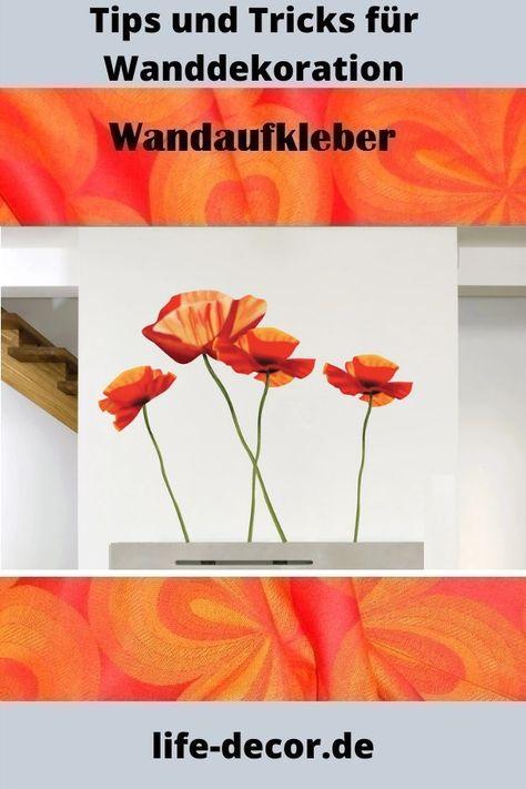Wandaufkleber Mohnblume Ws009 In 2020 Wandaufkleber Aufkleber Wandtattoos