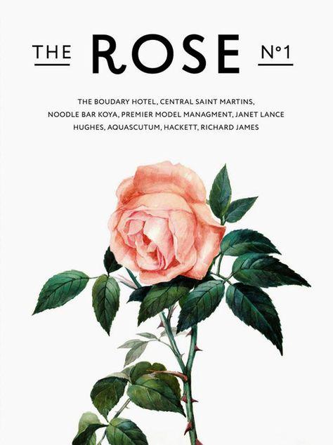"""Lindíssimo grabalho gráfico e de moda. """"Loja roupas britânica estilo Reino Unido começou a produzir uma nova revista The Rose - publicação sobre moda, estimulação le, cultura e arte. A primeira edição veio com um aplicativo especial """"Artesanato""""."""""""