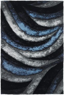 Chandra S Flemish Shag Area Rug In Blue Gray Share Your Pinterest Rugs And Grey