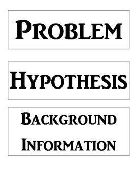 science fair headings printable