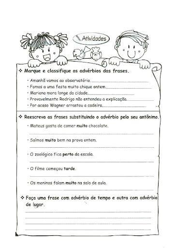 Adverbios Exercicios Atividades 3 4 5 Anos Para Imprimir