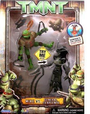 Teenage Mutant Ninja Turtles Movie MIKE vs GENERAL SERPIENTE New Michelangelo