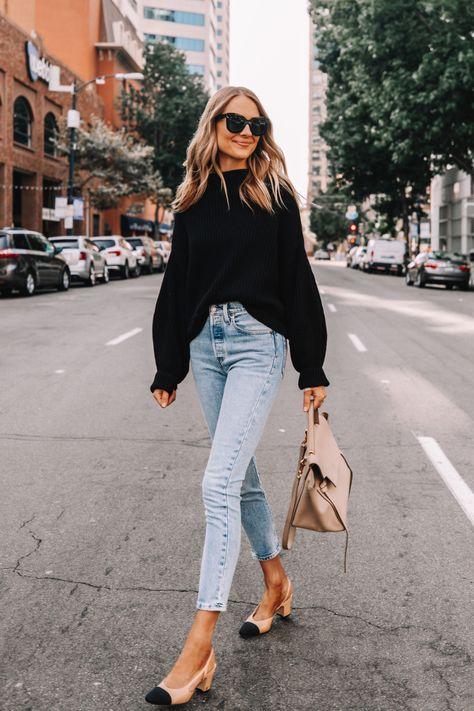 Oversized Free People Sweater Outfit - Fashion Jackson