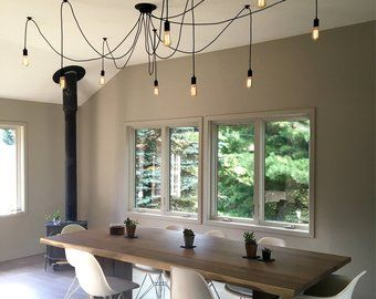 Kitchen Lighting 5 Caged Pendants Swag Chandelier Etsy Dining Room Small Lights Over Dining Table Kitchen Island Lighting Modern