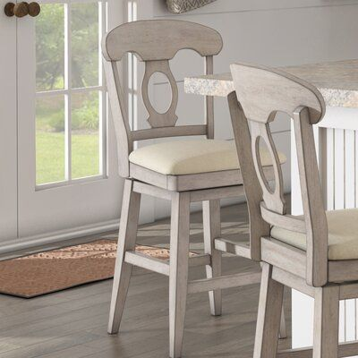 August Grove Colasanto Swivel Bar Counter Stool Color White Seat Height Bar Stool 29 Seat Height Bar Stools Swivel Bar Stools Counter Stools