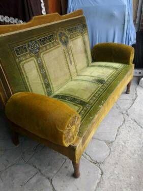 Schones Antikes Sofa Couch Jugendstil Um 1900 Original Zustand