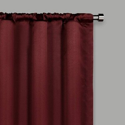 Solid Thermapanel Room Darkening Curtain Merlot 54 X 54 Eclipse