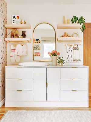 8 Nursery Room Ideas That Put Design At The Forefront In 2020 | Ikea Sektion Cabinets, Best Changing Table, Kids Storage