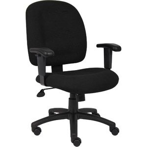 Boss Desk Chair With Adjustable Arms Comes In Sky Blue From Walmart