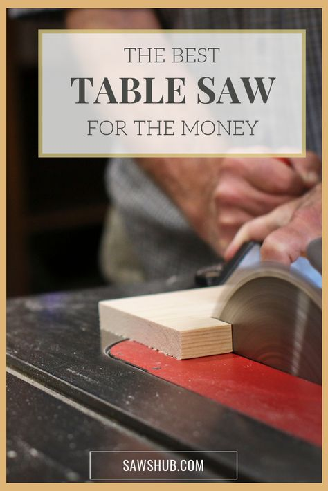 Find the best table saw for the money, as we review the top tool options for you to pick from. Included in the rankings is safety features, which are vital for this dangerous woodworking saw. #sawshub #tablesaw #woodworking #DIY #project