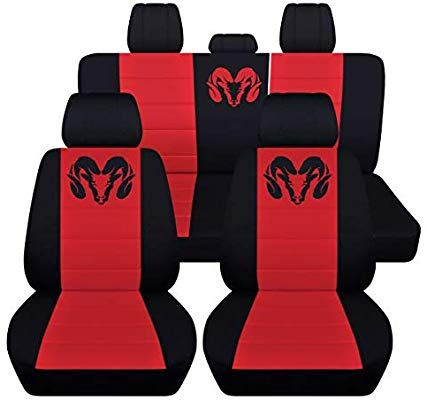 Amazon Com Fits 2012 To 2018 Dodge Ram Front And Rear Ram Seat Covers 22 Color Options Solid Rear Bench Truck Seat Covers Seat Covers Dodge Ram Accessories