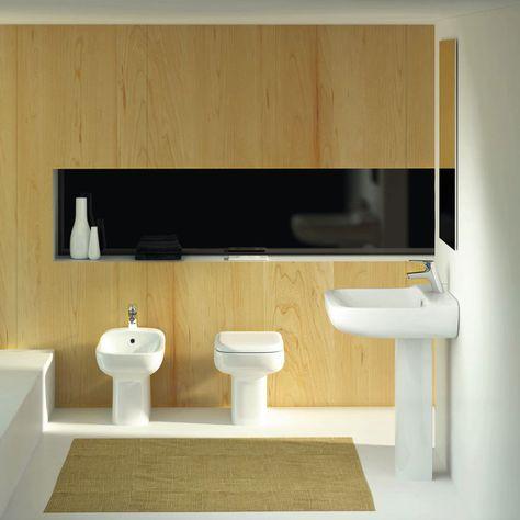 Lavabi Ad Incasso Ideal Standard.Ideal Standard Lavabo Conca Su Colonna Realizzato In Ceramica Nella
