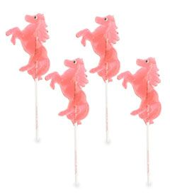 pink horse lollipops (set of 4) for a Sheriff Callie's Wild West Party