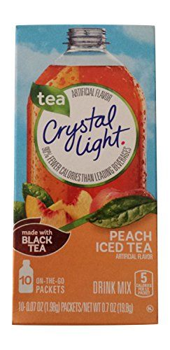 Crystal Light On The Go Peach Tea 007 Ounce Each 10count Boxes Pack Of 6 Click Image For More Details Note It Is Aff Iced Tea Drinks Drinking Tea Peach Tea