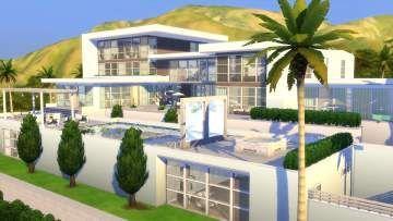 Mod The Sims Modern Celebrity Mansion 6br 8ba Celebrity Mansions Sims House Design Mansions