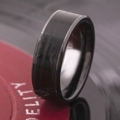 Vinyl Record Ring In Black Ceramic 4329 Black Wedding Band Ceramic Wedding Bands Simple Wedding Bands