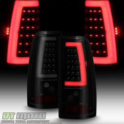 Details About Black Smoke 1999 2006 Gmc Sierra 99 02 Chevy Siverado Led Tube Tail Lights Lamps In 2020 With Images Chevy Silverado 2005 Chevy Silverado Chevy Silverado 2500