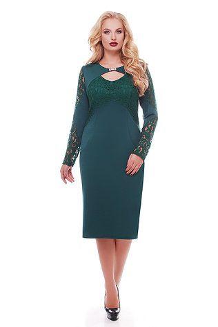 6c0ff17eaa4c ХАРЬКОВ Вечернее платье для полных женщин Шерилин изумруд, фото 2 ...