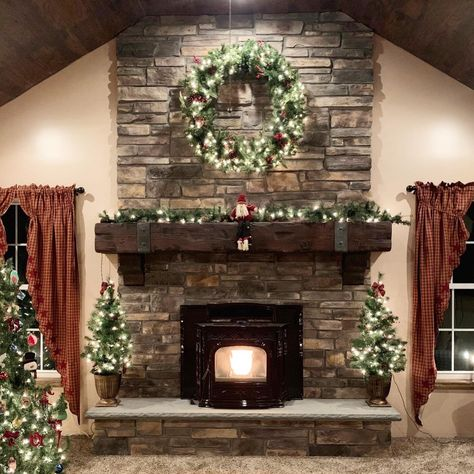 Brick Discover Rustic Fireplace Mantel with metal straps & bolts Custom Made to Order U pick or Custom size or Color Stone Fireplace Decor, Rustic Fireplace Mantels, Stacked Stone Fireplaces, Brick Fireplace Makeover, Rock Fireplaces, Farmhouse Fireplace, Home Fireplace, Fireplace Remodel, Fireplace Ideas