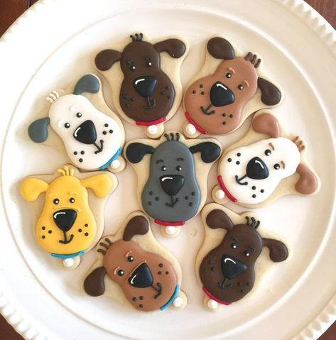 Puppy Cookies Dog Cookies Animal Cookies Decorated Cookies