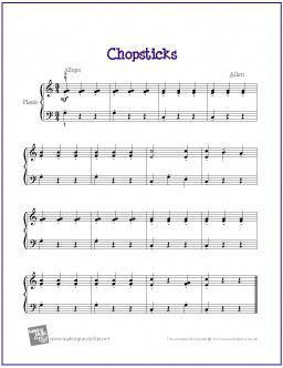 Chopsticks With Images Easy Piano Sheet Music Beginner Piano
