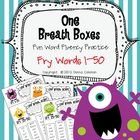 Make learning the first 50 Fry Words fun with these One Breath Boxes! They are the brainchild of Dustin over at teachertipster.com & I am so gr...