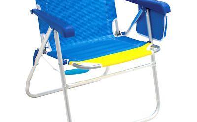 Rio Beach Hi Boy 17 Extended Seat Height Folding Patio Chairs Folding Beach Chair Outdoor Chairs