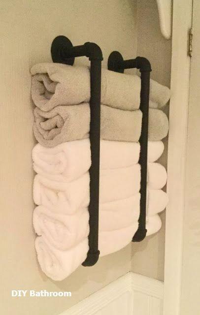 Grosse Diy Bad Handtuch Aufbewahrungsideen Baddekoration Aufbewahrungsideen B Grosse Diy B In 2020 Handtuchhalter Ideen Aufbewahrung Fur Kleines Badezimmer Diy Bader