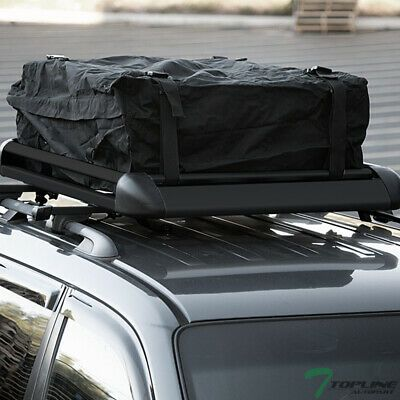 Sponsored Ebay 49 Blk Square Adjustable Roof Rail Rack Cross Bars Cargo Carrier Basket Bag T02 Aluminum Roof Basket Bag Cargo Carrier