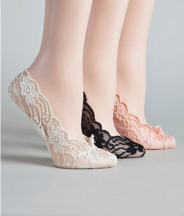 Cushioned Sole Lace Foot Liners