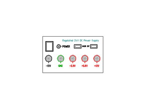 Regulated BENCH POWER SUPPLY 240Vac ~ 24Vdc | Electronics components ...