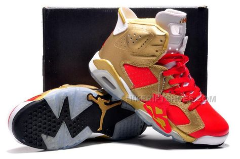 "new styles 2ea56 839ea Air Jordan 6 VI ""Niners Nation"" Customs Metallic Gold-Varsity Red White   Air  Jordan 6"