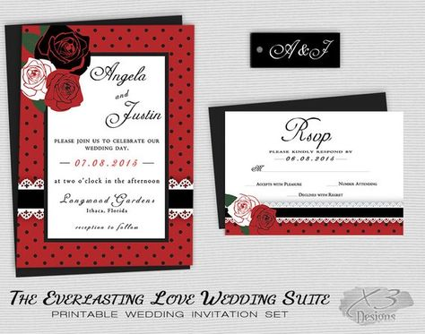 Rockabilly Wedding Invitation Set