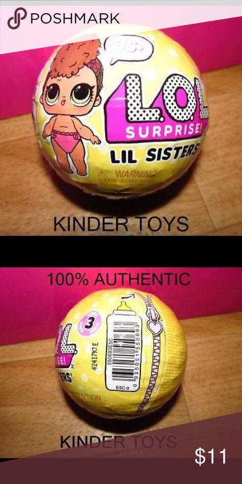 LOL Surprise Doll Series 3 ~  LIL SIS ~ SISTERS Tots L.O.L Ball wave 1